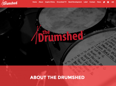 TheDrumshed.net (website design)