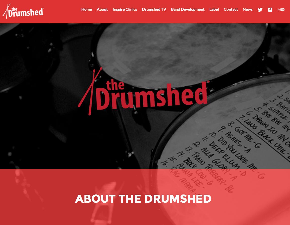 TheDrumshed.net (website design)
