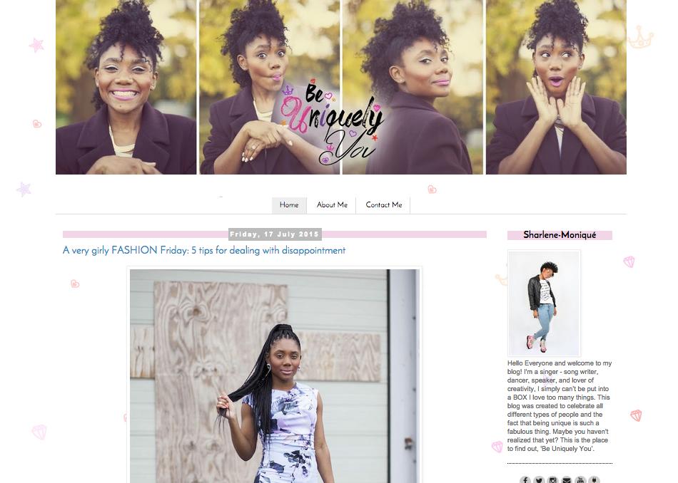 Be Uniquely You (website design)