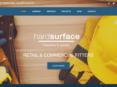 Hardsurface (Website design)